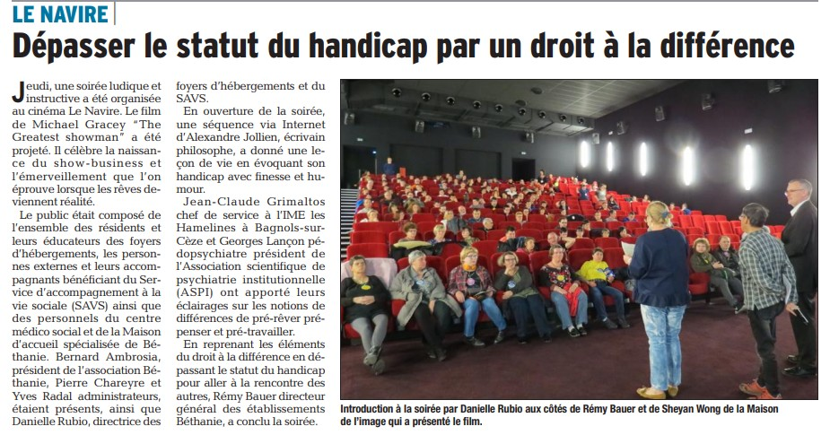 Article Dauphiné 02 04 2018