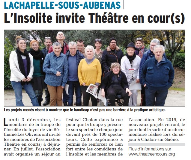 Article Dauphiné 05 12 2018
