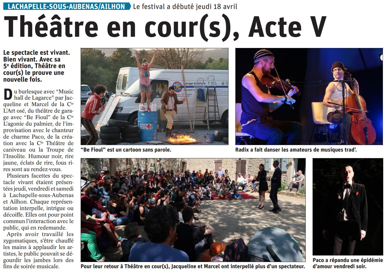 Article Dauphiné 21 04 2019